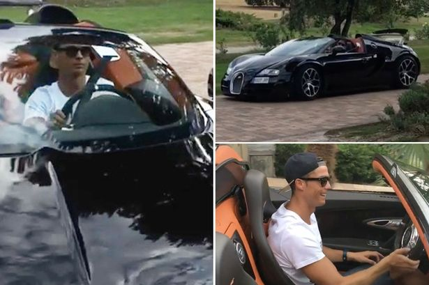 cristiano ronaldo shows off stunning bugatti veyron in instagram video. Black Bedroom Furniture Sets. Home Design Ideas