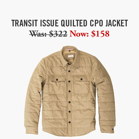 Transit Issue Quilted CPO Jacket