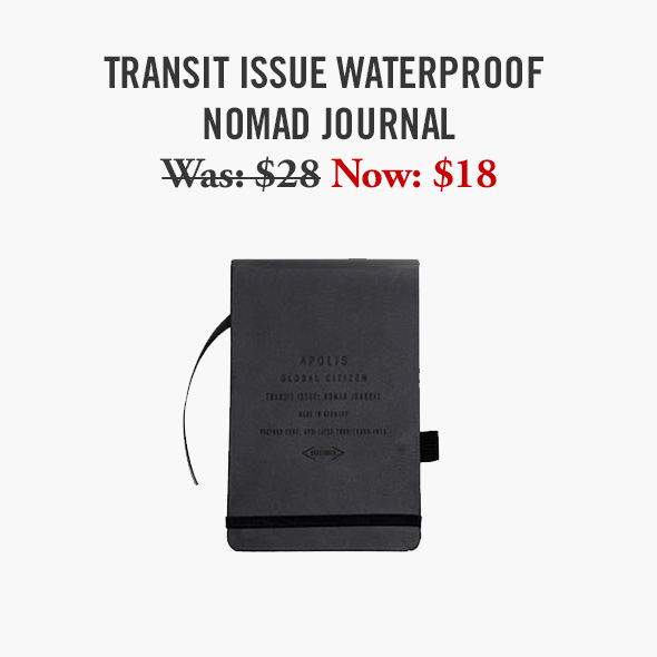 Transit Issue Waterproof Nomad Journal