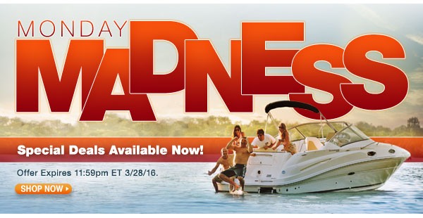 Monday Madness - Special Deals Available Now!