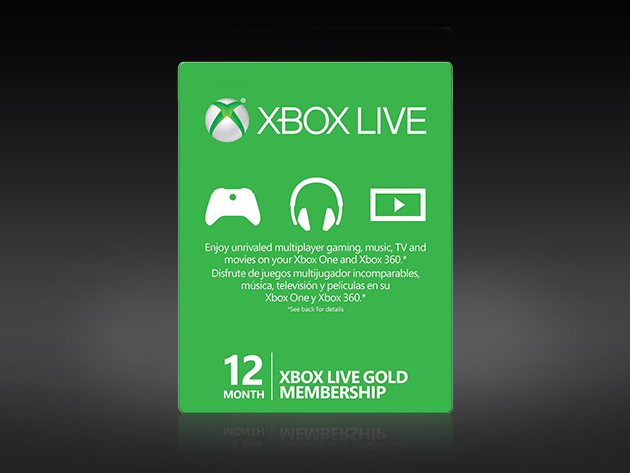 Xbox Live Gold: 12-Month Subscription