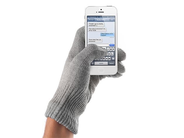 Mujjo Touchscreen Gloves in Natural Gray