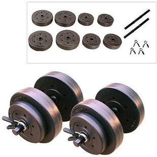 Gold's Gym 40lb Vinyl Dumbbell Set $17