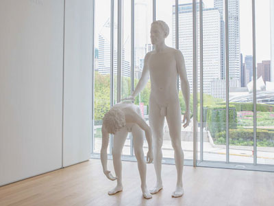"""Charles Ray sculpture """"Huck and Jim"""""""