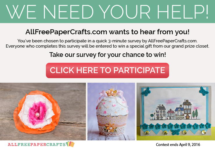 We need your help. Take our survey and be entered to win a special gift.