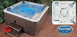 Divine Hot Tubs Deluxe Ultra Massage 115-Jet, 7-Person Spa