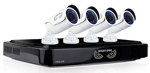 Night Owl 8-Channel HD Analog DVR with 1TB HDD, 4 1080p Cameras with 100' Night Vision