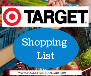 Target Shopping List Featured Image