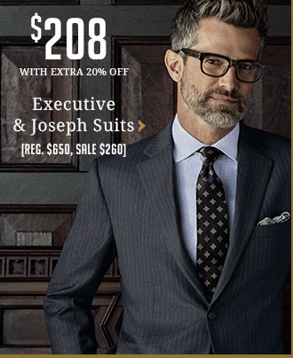 Entire Stock Executive & Joseph Suits - $208 - WITH EXTRA 20% OFF - Reg. $650, Sale $260
