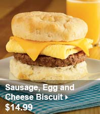 Sausage, Egg and Cheese Biscuit