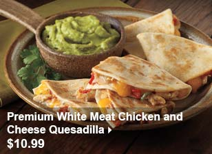 Premium White Meat Chicken and Cheese Quesadilla