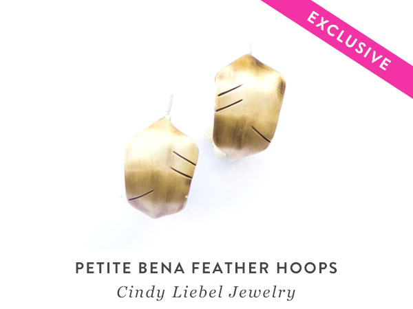 Petite Bena Feather Hoops