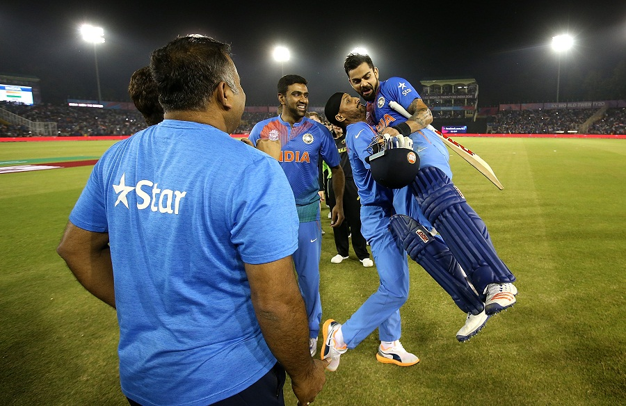 Virat Kohli's unbeaten 82 off 51 balls sealed a chase of 161 as India beat Australia by six wickets and booked their World T20 semi-final spot