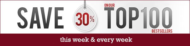 Click here to save 30% on our Top 100 Bestsellers