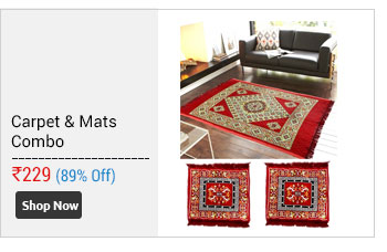 Home Castle Famous Quilted Carpet With 2 Asan Mats Free