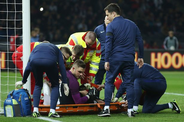 Stoke goalkeeper Jack Butland OUT of the Euros with a broken ankle