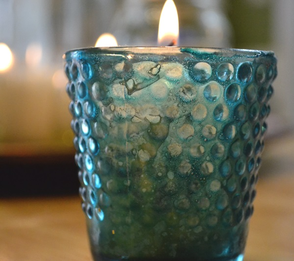 Colored Mercury Candle Holders
