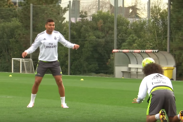 Watch Real Madrid stars get into a super intense game of 'don't let it bounce' that no-one wants to lose