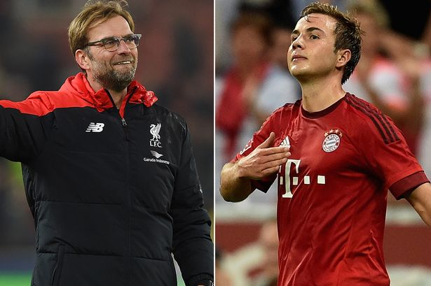 Bayern Munich fear Liverpool target Mario Gotze has decided on a summer reunion with Jurgen Klopp