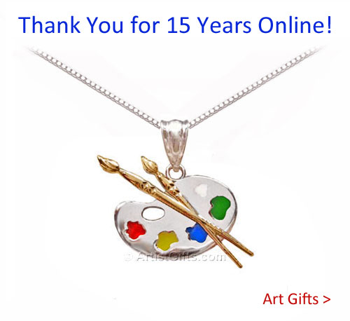 Thank you for 15 Years Online! See Our Art Gifts and Art Gift Ideas