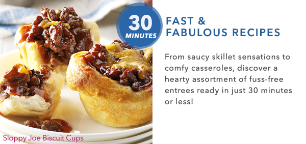 30 Fast and Fabulous Recipes