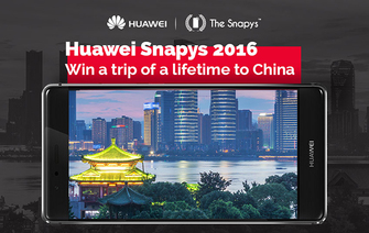 €10,000 worth of prizes to be won at the Huawei Snapys!