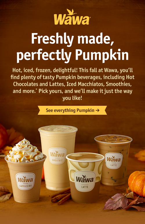 Freshly made, perfectly Pumpkin - See everything Pumpkin