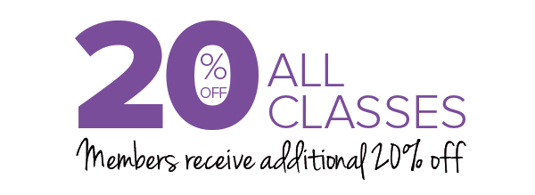 20% off All Classes