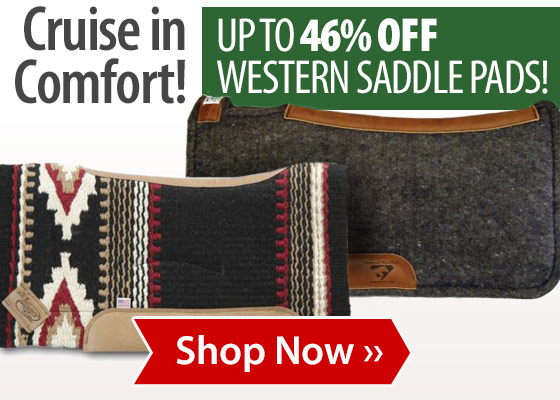Up to 46% off Western Saddle Pads!
