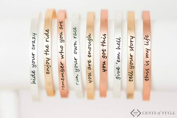 "Get a ""You Are Enough"" bracelet for just $11.95 shipped! (And many other phrases are included, too!)"