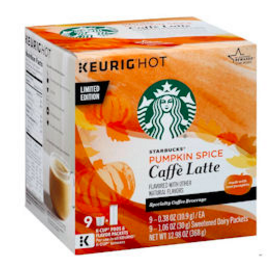 Sign up for a free sample of Starbucks Caffe Latte K-Cups.