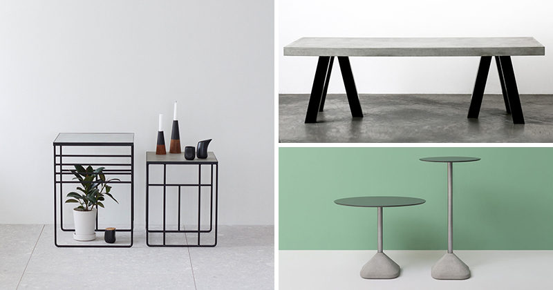 10 Examples Of Concrete and Steel Tables To Add To Your Industrial Interior