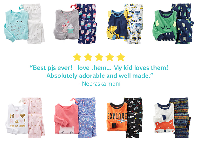 """★★★★★ """"Best pjs ever! I love them… My kid loves them! Absolutely adorable and well made."""" –Nebraska mom"""