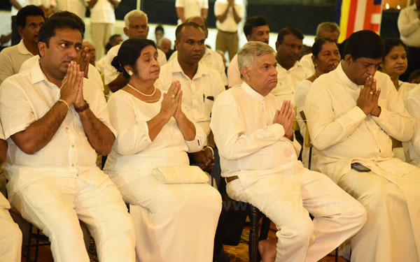 Religious blessings for 70th anniversary of UNP