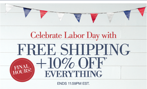 Celebrate Labor Day with FREE SHIPPING +10% OFF everything | Ends 11:59PM EST