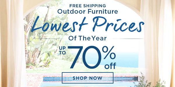 Free Shipping - Outdoor Furniture - Lowest Prices Of The Year - Up To 55% Off - Ends 9/11 - SHOP SALE
