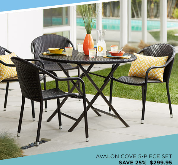 Avalon Cove Outdoor Wicker 5-Piece Cafe Dining Set (7J991) - $299.95 - 25% Off