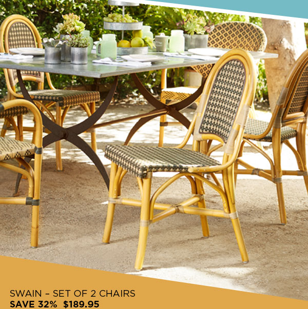 Swain Hand-Made Natural Rattan Dining Side Chair Set of 2 (8M484) - $189.95 - 32% Off
