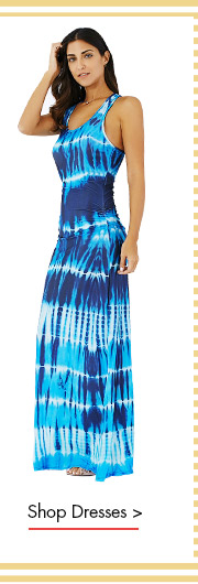 Bohemian Illusion Tie-Dye Print Raceback Maxi Dress
