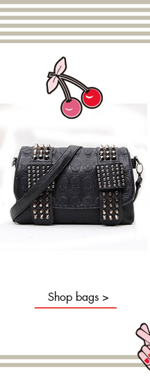 Stylish Women's Shoulder Bag With Black and Skull Pattern Design