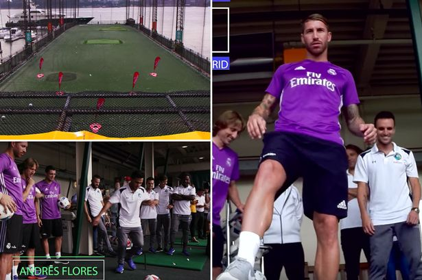 Watch Real Madrid superstars struggle to scrape a draw in foot golf game against New York Cosmos