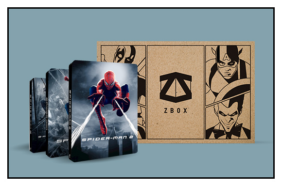 £10 OFF SPIDER-MAN STEELBOOKS <BR>WITH THE ZBOX!