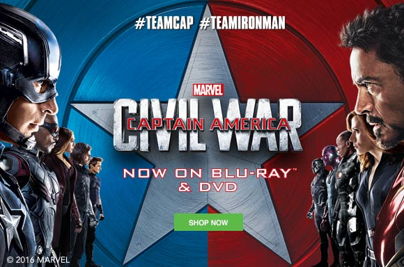 CAPTAIN AMERICA: CIVIL WAR <br> NOW AVAILABLE