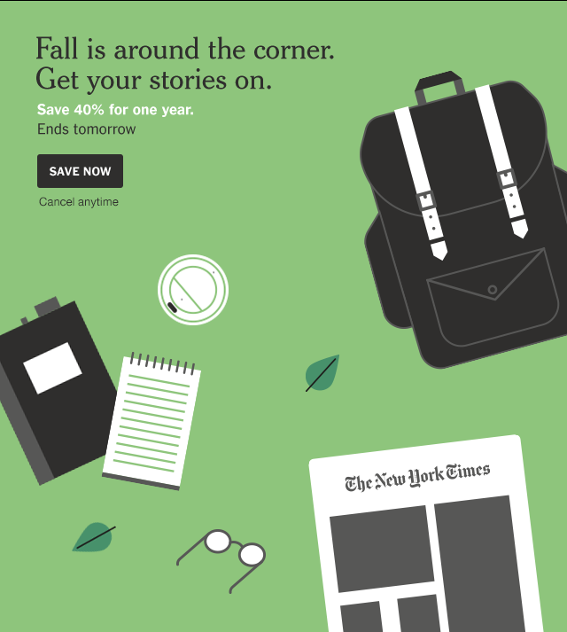 Fall is around the corner. Get your 