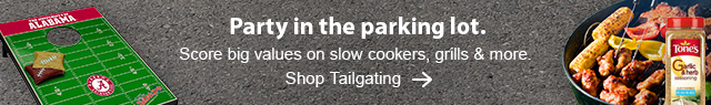 Party in the parking lot. Score big values on slow cookers, grills & more. Shop Tailgating