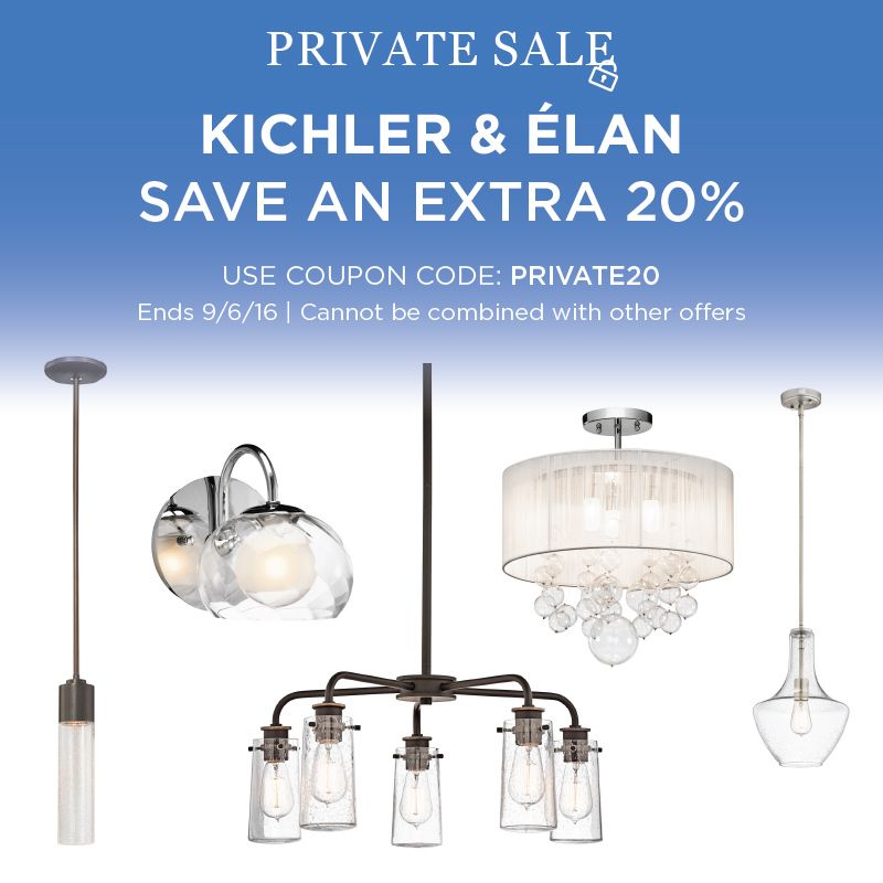 Kichler & Elan Lighting Sale