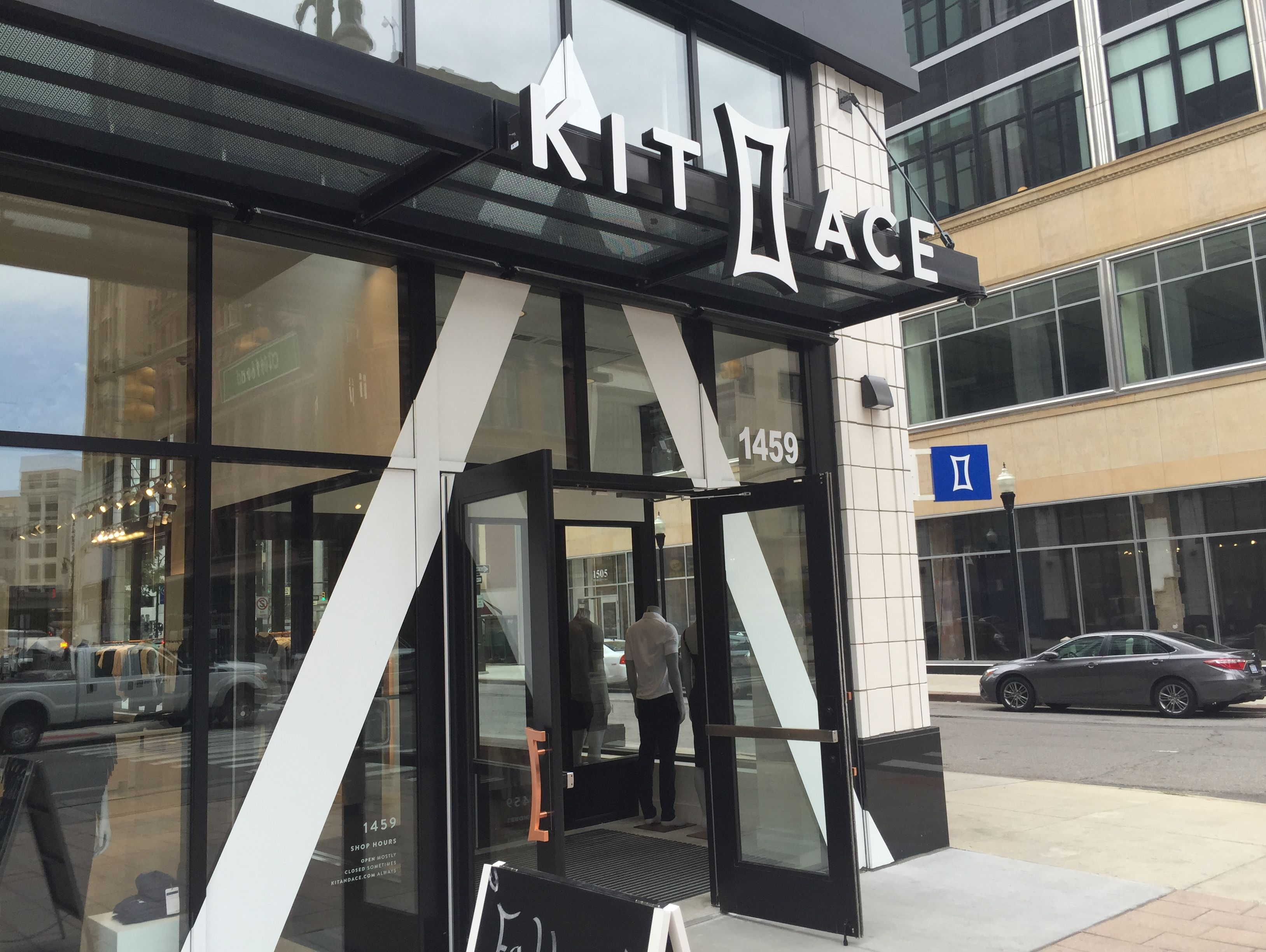Kit and Ace clothing store in Detroit does not take cash for purchases, as part of a corporate approach.