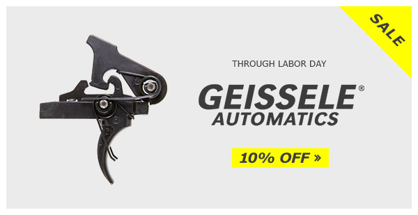 Save 10% on Geissele through Labor Day