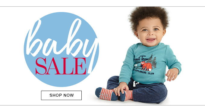 baby SALE. SHOP NOW.