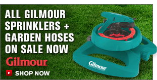 All Gilmour Sprinklers + Garden Hoses On Sale Now